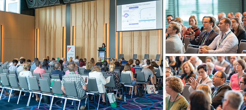 Doctors, nurses, and scientists listen to speakers at the ALCC in Sydney 2018