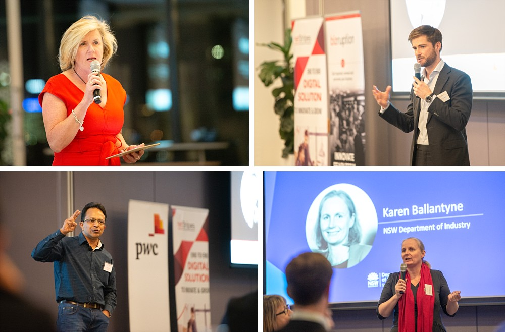 Speakers at Bizruption event PWC Sydney Barangaroo