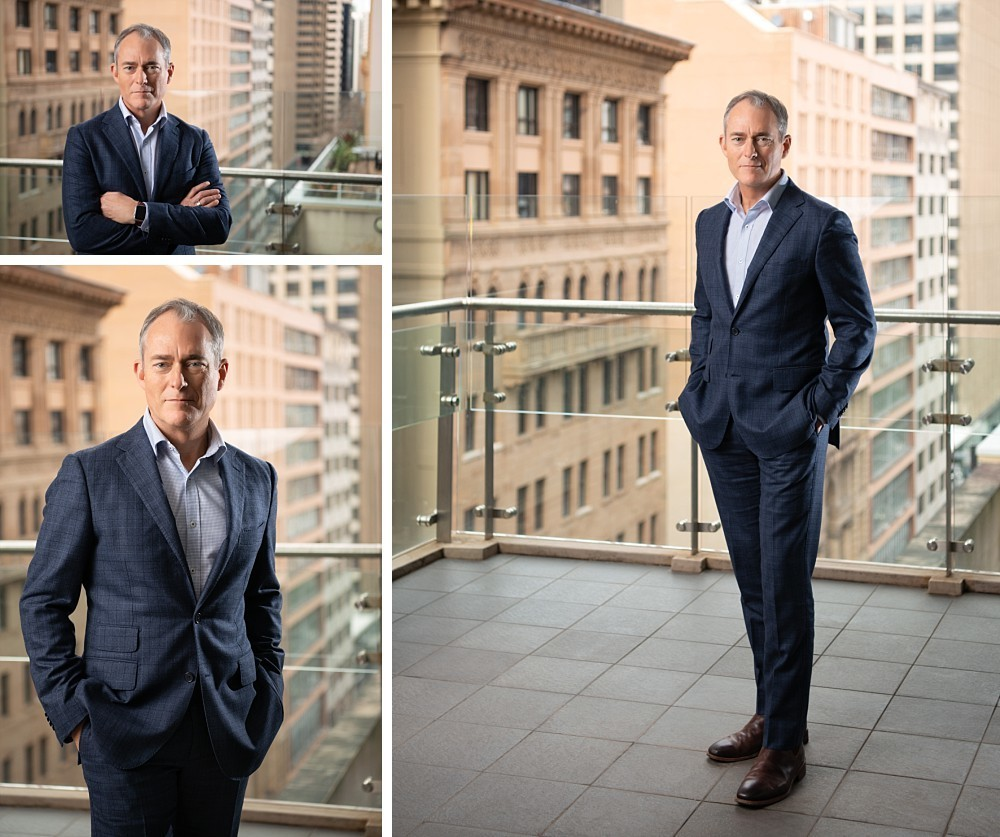 Sydney CEO Executive Branding Photographs with CBD in background