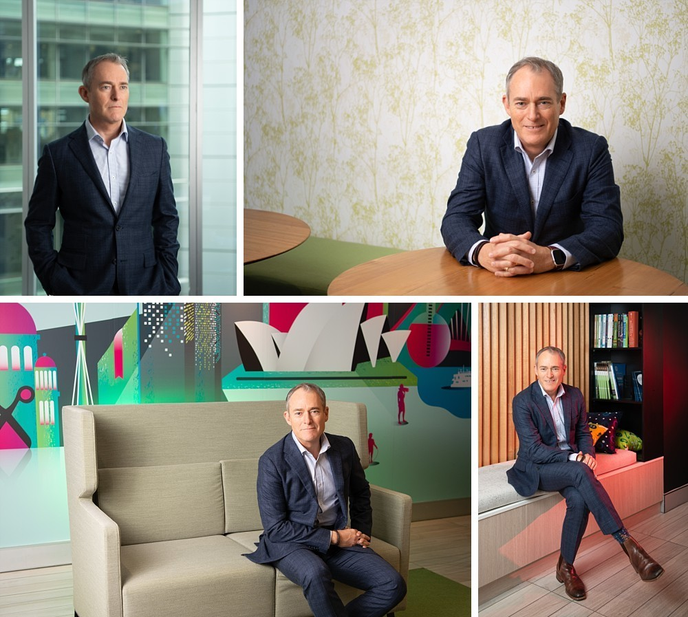 Executive branding portraits for CEO in Sydney office