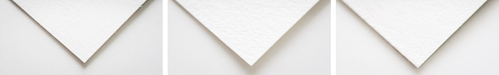 Samples of different paper textures