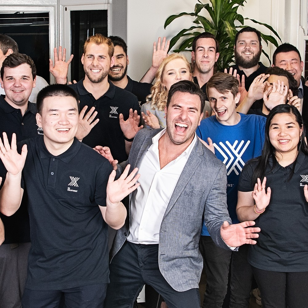 Professional team group photo in Sydney office
