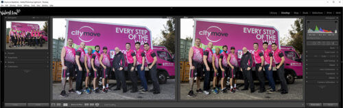 Example of professional editing of a group branding photograph in Sydney