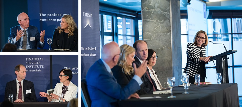 Victoria Weekes, Shayne Elliott,Catherine Fox, Lance Hockridge, Pip Marlow at FINSIA Signature Event Leading Change