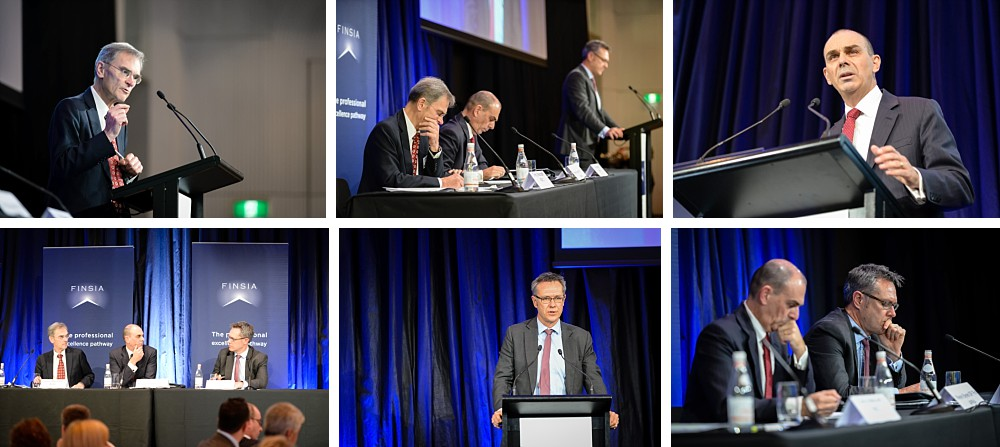 Wayne Byres, Chairman, APRA, Guy Debelle, Deputy Governor, RBA, Greg Medcraft, Chairman, ASIC at The Regulators