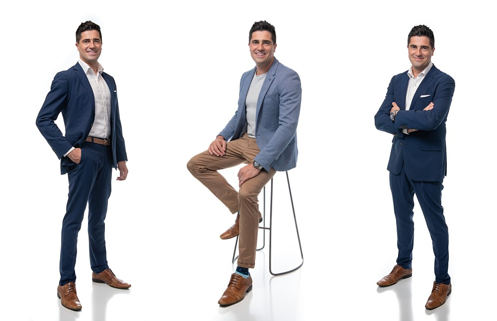 Suit and casual Branding Photos on white background in Sydney