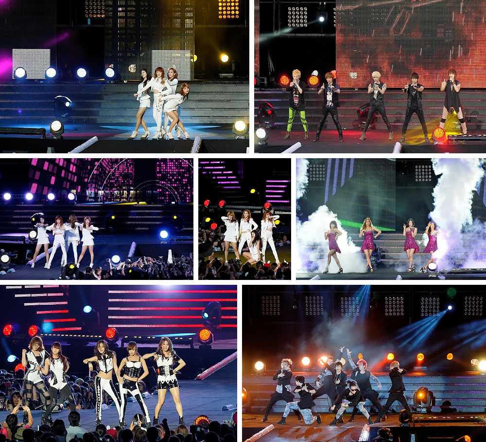 2AM, 4minute, BEAST, CN Blue, Kara, MBLAQ, miss A, Secret, SHINee, SISTAR, SNSD, TVXQ performing in concert at the K-pop Music Fest Sydney
