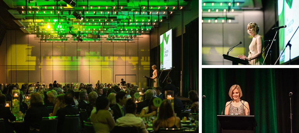 Heather Allan, Professor Christine Jenkins & Dr Briony Scott speak at the Lung Foundation Australia Annual Dinner Gala 2017