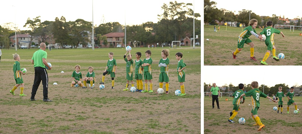 Maroubra Mariners coached and playing soccer at Coral Sea Park