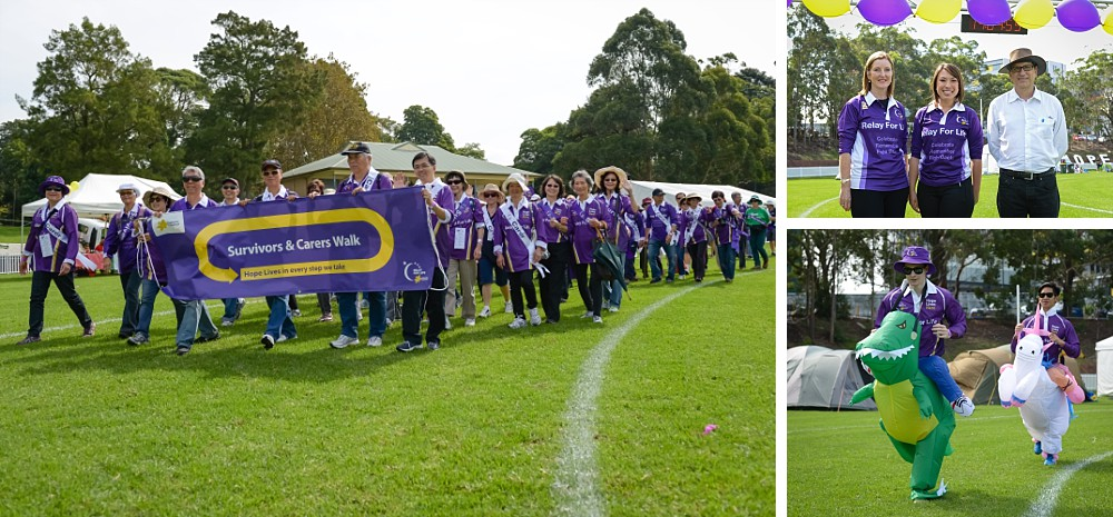CanRevive leads participants to start the North Shore Cancer Council Relay For Life 2014