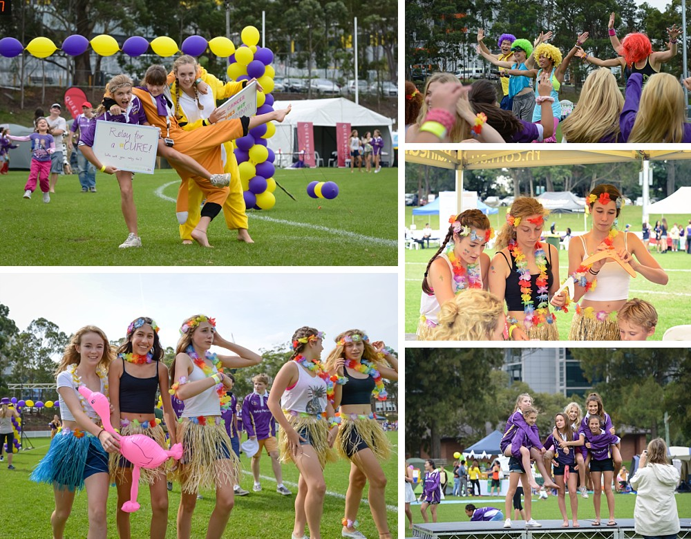 Participants at North Shore Cancer Council Relay For Life 2014