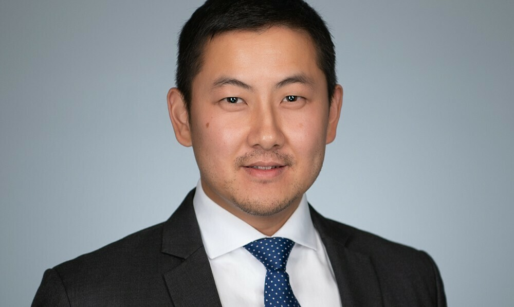 Asian male in business headshot in Sydney studio
