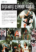 Sydney Zombie Walk 2011 article in The ONE Magazine Feb 2012