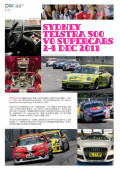 Sydney Telstra 500 V8 Supercars 2011 article in The ONE Magazine Jan 2012